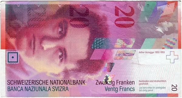 Francul elvetian s-a apreciat cu 20% intr-o singura zi